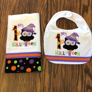 Other - My 1st Halloween burp cloth and bib set